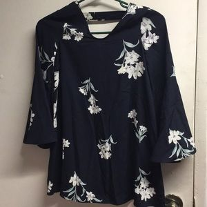Soprano Floral  Long Sleeve Top